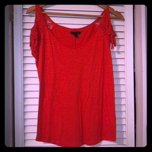 American Eagle Top, lace sleeves, size S